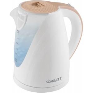Чайник Scarlett SC-EK18P43, белый/бежевый